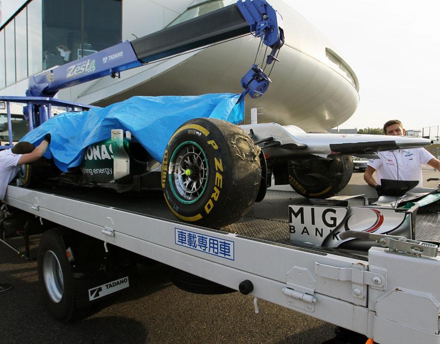 舒马赫:二练撞车是自己的失误