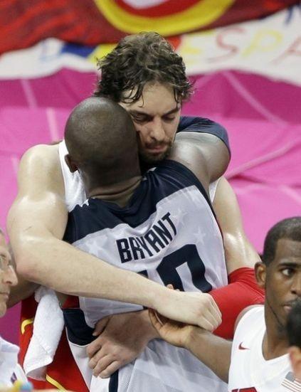 加索尔:开心能留下,奥运时科比的拥抱意义重大
