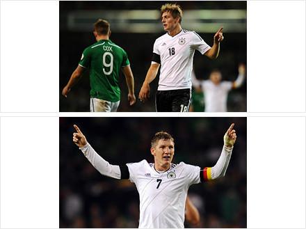 克罗斯两球帮助德国队6-1大胜爱尔兰
