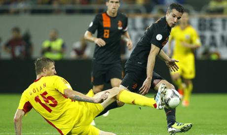 范佩西建功,荷兰客场4-1罗马尼亚
