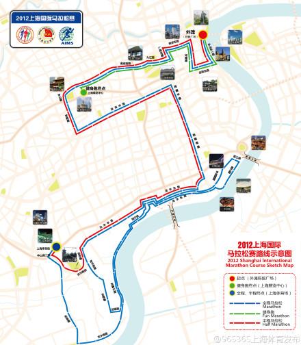 上海马拉松比赛路线公布:有点小清新