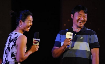 李娜笑言在国内姜山比她更有名