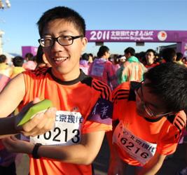 2012年北京马拉松,为TA奔跑