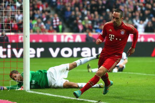 里贝里建功,拜仁2-0法兰克福