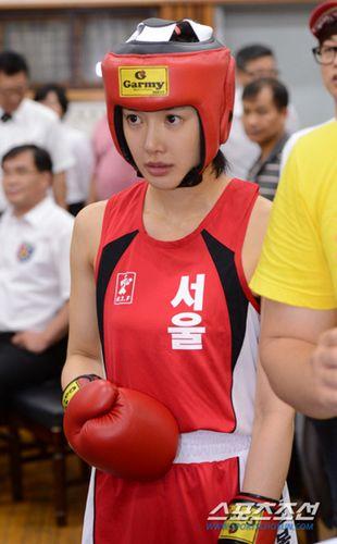 韩国美女演员将参加拳击国家队选拔赛