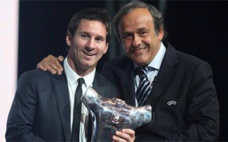 普拉蒂尼:梅西若赢得金球奖是实至名归