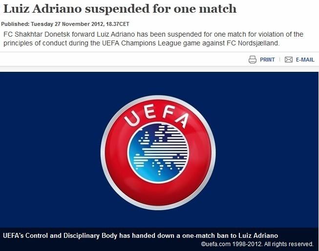 矿工争议前锋被欧足联禁赛一场