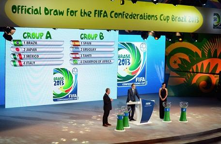 联合会杯抽签:巴西与意大利进死亡之组