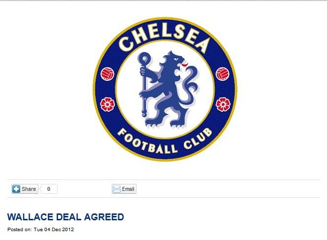 官方:切尔西签下巴西后卫华莱士