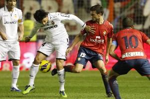 索尔达多制胜,瓦伦西亚1-0客胜奥萨苏纳
