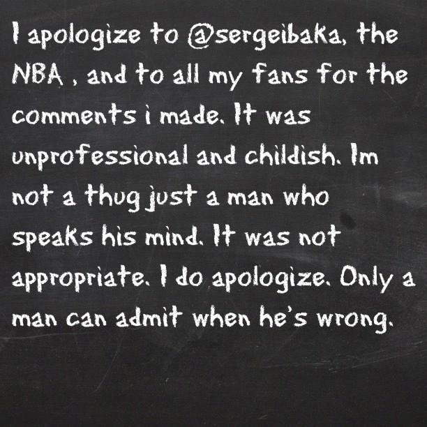 斯蒂芬-杰克逊因对伊巴卡的言论而道歉