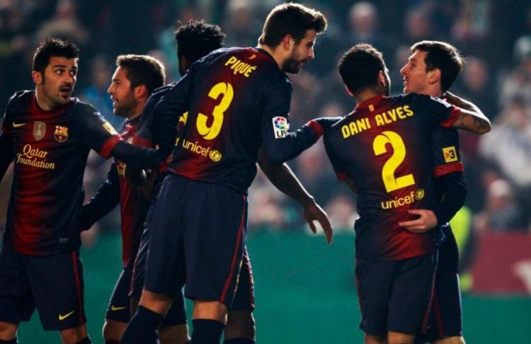 国王杯:梅西2球,巴萨2-0胜弱旅