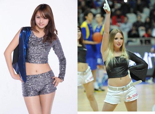 上海啦啦队也有双外援,日本姑娘喜欢孟令源
