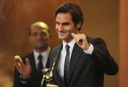 费德勒第五度获瑞士最佳运动员奖