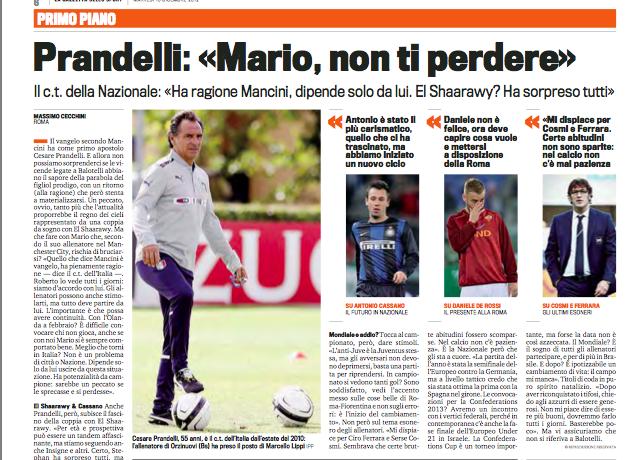普兰德利:德罗西和巴洛特利都应配合教练