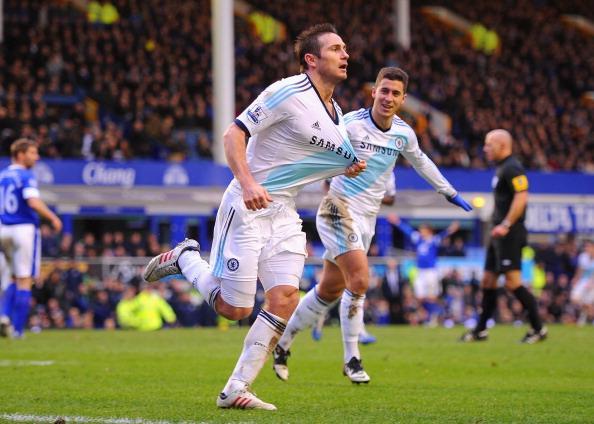 兰帕德2球,切尔西客场2-1逆转埃弗顿