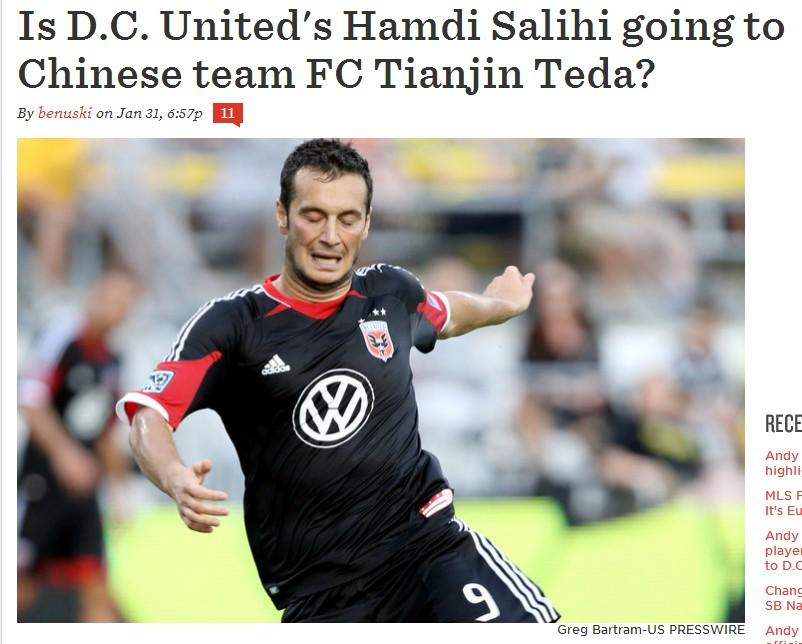 前阿尔巴尼亚足球先生有望加盟泰达