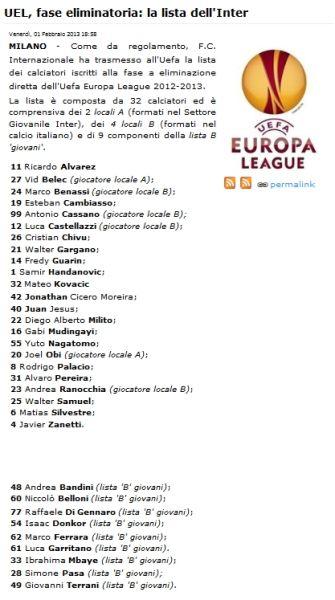 国米公布欧联杯名单:新援仅科瓦西奇入选
