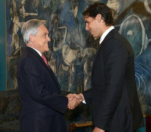 纳达尔抵达智利,总统亲自接见