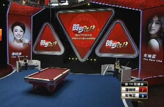 九球贺岁杯:潘晓婷7-9遭车侑蓝逆转