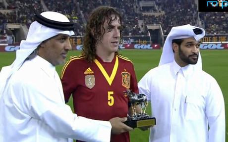 普约尔代表西班牙国家队第一百次出场