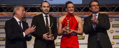伊涅斯塔荣获世体最佳男运动员