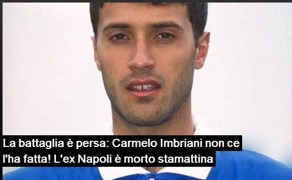 前那不勒斯球员因布里亚尼去世