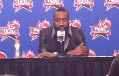 哈登:首次全明星赛很棒,杜兰特说他想我了