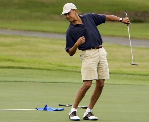 """奥巴马:伍兹打球""""如同来自另一个星球"""""""