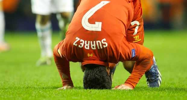 利物浦相信苏亚雷斯不会因踩踏而遭处罚