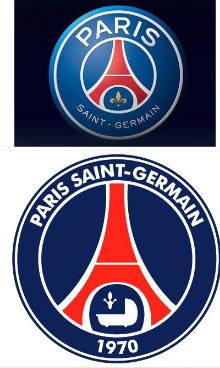 巴黎圣日耳曼下赛季球队新队徽亮相