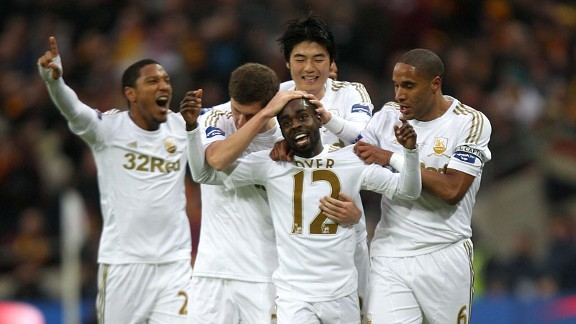 米楚建功,斯旺西5-0胜英乙队夺联赛杯