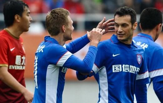 克里维茨破门,舜天客场2-1恒大夺超级杯