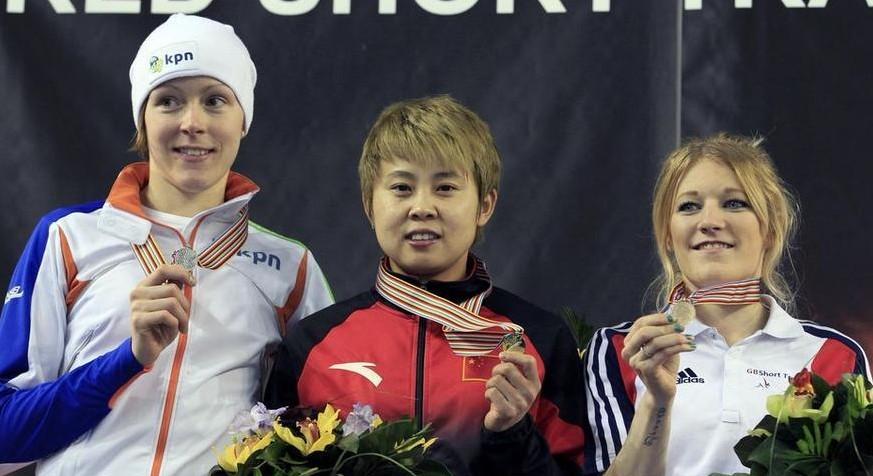 短道速滑世锦赛:王濛全能夺冠一日获三金