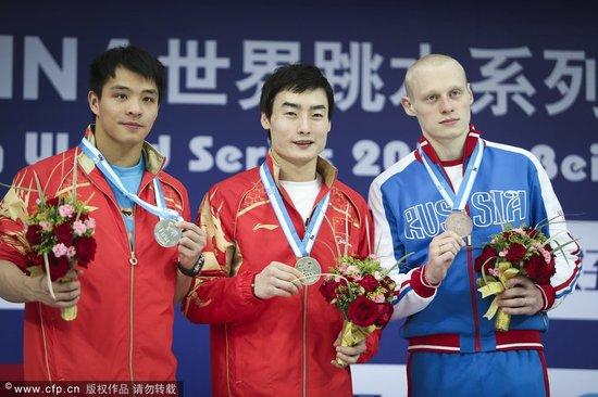 跳水系列赛中国队包揽八项金牌