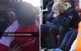 阿森纳球迷在球场外发生冲突