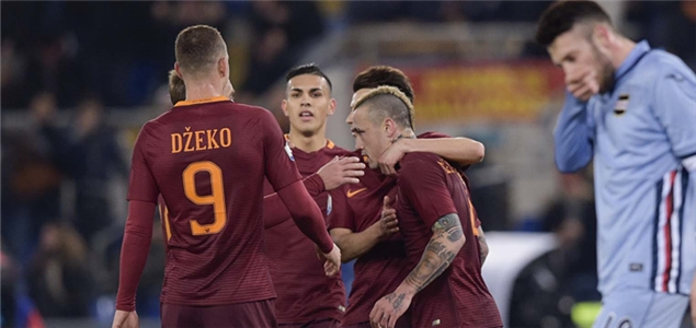 意大利杯:纳因戈兰双响,罗马4-0桑普晋级
