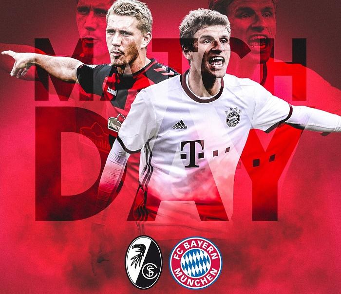 弗赖堡vs拜仁慕尼黑首发:莱万和穆勒领衔