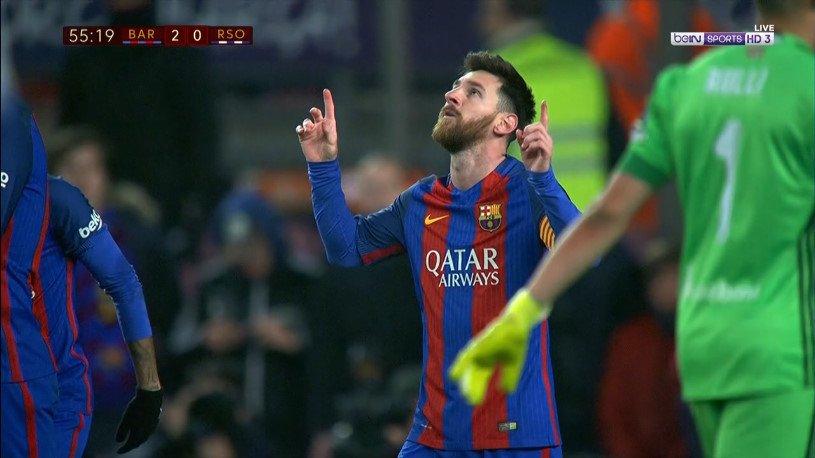 GIF:内马尔制造点球,梅西破门扩大比分