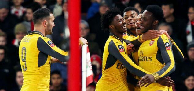 足总杯:沃尔科特戴帽,阿森纳客场5-0南安普顿