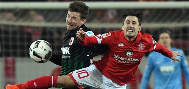 厄兹图纳利海罗建功,美因茨2-0奥格斯堡