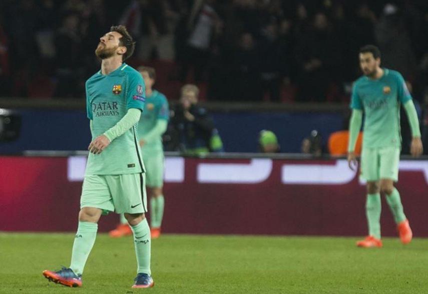 净吞四弹,巴萨遭遇四年来欧冠最惨失利