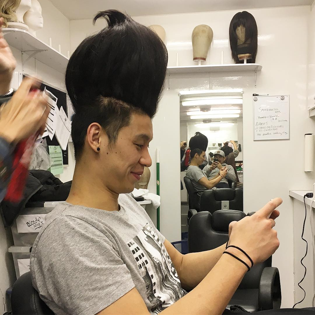 厉害了我的哥!林书豪晒奇葩发型