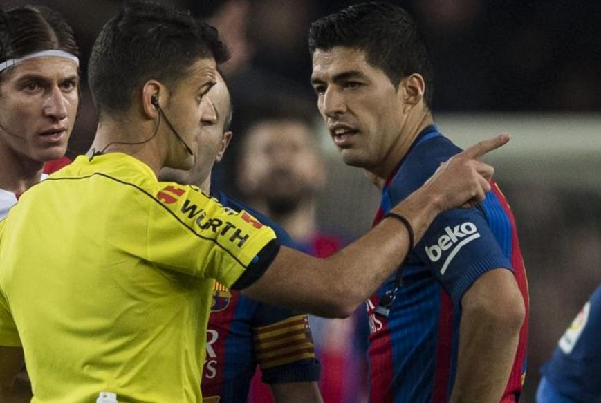 西足协维持原判,苏亚雷斯黄牌上诉被驳回