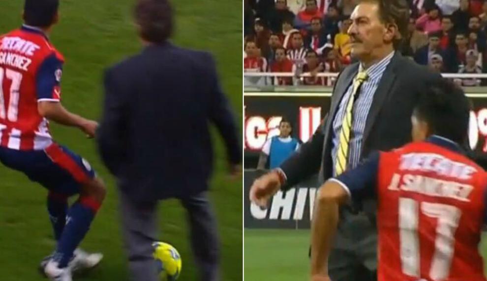 活久见!墨西哥联赛主教练入场抢断阻止反击