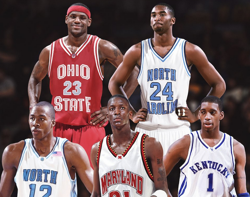 BR發圖:這5位球員如果上大學,誰會統治NCAA