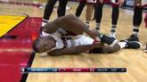 韦特斯左膝盖扭伤离场,本场比赛将不会再上场