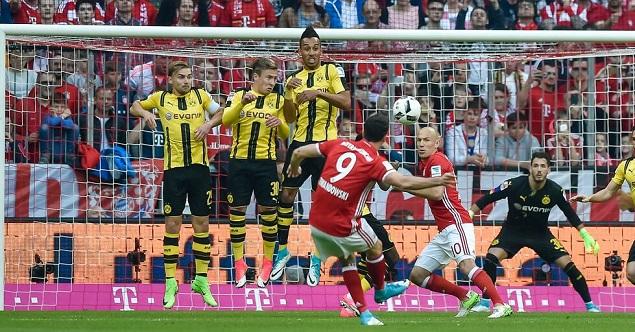半场:里贝里闪击莱万破门,拜仁2-1多特