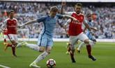 半场:阿圭罗进球被吹,阿森纳0-0曼城