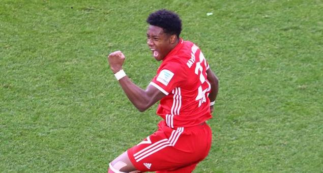 半场:阿拉巴破门莱万两球,拜仁3-0沃尔夫斯堡